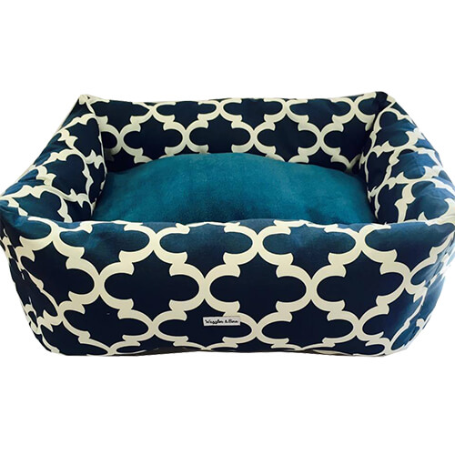 Metro Navy, Dog Bed, NZ Made, Bespoke, Petware
